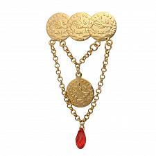 Buy Muslim Allah Ottoman style crystal brooch Islam jewelry offer Allah Scarf Hijab