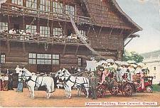 Buy Forestry Building, Rose Carnival, Oregon Vintage Used Postcard