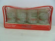 Buy NEW SET/4 COCA-COLA 8 OZ. GLASSES IN SLEEVE W/COKE'S FAMOUS SLOGANS AROUND GLASS