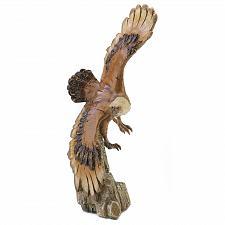 Buy 39665U - Soaring Eagle Hand Carved Burlwood Look Polyresin Figurine Statue