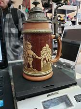 "Buy Handarbeit Handmade Germany Lidded German Beer Stein 6"" Hand Painted Munchen"