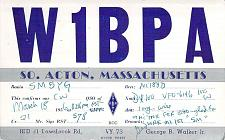 Buy 1956 QSL Postcard from So. Acton,Mass. to Sweden, W1BPA