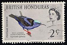 Buy British Honduras #168 Red-legged Honeycreeper; Used (0.25) (3Stars) |BHO168-01XVA