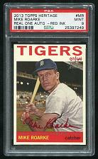 Buy 2013 TOPPS HERITAGE REAL ONE RED AUTO MIKE ROARKE PSA 9 MINT (25397249)