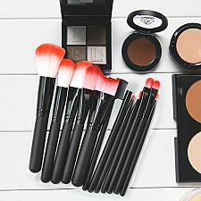 Buy 12PCS Pro Makeup Brushes Cosmetic Eye Face Powder Foundation Brushes Liner Shade