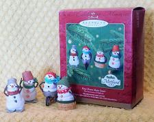 Buy 2000 Hallmark Race Down Main Street Christmas Ornaments Mitford Snowmen Set of 4