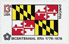 Buy 1976 13c Maryland State Flag, Bicentennial Era Scott 1639 Mint F/VF NH
