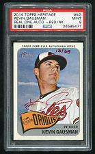 Buy 2014 TOPPS HERITAGE REAL ONE RED AUTO KEVIN GAUSMAN PSA 9 MINT (26595471)