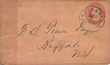 Buy 1850's U10, Cincinnati, Ohio Balloon Blue Cancel to NY PSE Cover