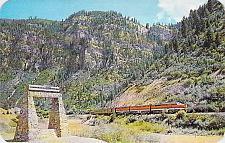Buy D&RGW Train, Railroad & Monument Glenwood Canyon Colo Postcard