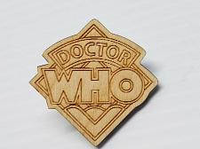 Buy Laser Engraved Doctor Who Wood Hat Pin