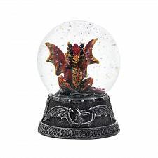 """Buy *18453U - Orange Dragon Figure 4"""" Tall Water Globe"""