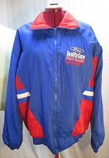 Buy C185 NASCAR Dale Jarrett 88 Ford Quality Racing Nylon Windbreaker Jacket L Vtg