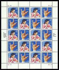 Buy 1993 29c Deaf Communication, Sheet of 20 Scott 2783-84 Mint F/VF NH