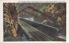 Buy Hanging Bridge Royal Gorge, Colo.Denver & Rio Grand R.R.Vintage Unused Postcard