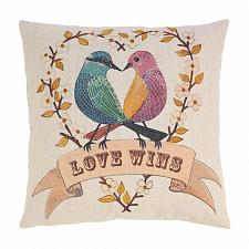 Buy *18707U - Love Birds 17'' Decorative Accent Throw Pillow