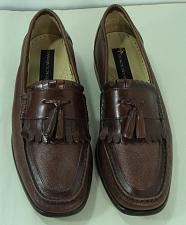 Buy Stacy Adams Mens Brown Leather Shoes Tassel Loafer Casual 9.5M