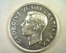 Buy 1951 CANADIAN SILVER DOLLAR GEORGE VI ABOUT UNCIRCULATED AU NICE ORIGINAL COIN