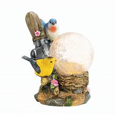 "Buy *18053U - Songbirds Statue Light Up Garden 7 1/2"" Solar Lamp"