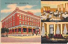Buy The Penn-Eben Hotel, Ebensburg, PA Vintage Linen Postcard