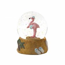 Buy *18594U - Beach Ball Pink Flamingo Snow Globe Figurine