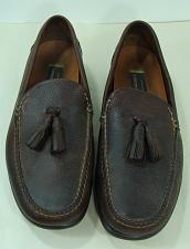 Buy Johnston & Murphy Mens Brown Leather Shoes Tassel Loafers Casual 12M HandMade