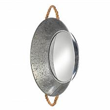 Buy *18150U - Metal Pie Tin Frame Round Wall Mirror