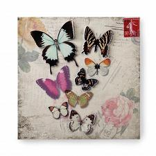 Buy *17431U - Butterfly Floral Postcard Backdrop 3-D Iron Wall Art