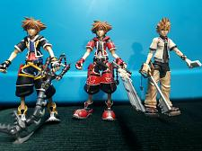Buy COLLECTABLE Play Arts Kai - Roxas and 2x Sora - Kingdom Hearts FIGURES EUC