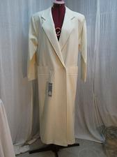 Buy Vintage Ivory Long Wool Trench Spring Dress Coat 38 Bust Unworn w tags