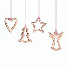 "Buy *17584U - Miniature 2"" Golden Christmas Tree Heart Angel Star Ornament 4pc Set"