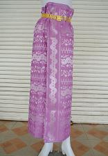 Buy Myanmar Traditional Fashion Fabric for Clothing Dress Long longyi Skirt LY4