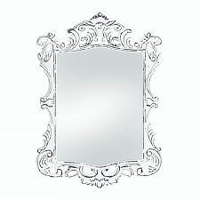 Buy *18067U - Regal White Distressed MDF Wood Frame Wall Mirror