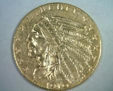 Buy 1910 2 1/2 DOLLAR INDIAN HEAD GOLD CHOICE ABOUT UNCIRCULATED+ CH. AU+ ORIGINAL