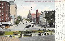 Buy Pennsylvania Ave From U.S. Treasury, Washington DC Vintage Postcard