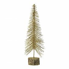 "Buy *18481U - Medium 16"" Gold Glitter Tree /Cedar Base"