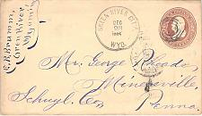 Buy Green River City DPO Cover Circa 1867 to Minersville, PA