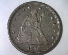 Buy 1875-S TWENTY CENT PIECE EXTRA FINE XF EXTREMELY FINE EF NICE ORIGINAL COIN