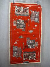 Buy New Orleans Decatur Street French Market Souvenir LINEN Tea Towel Vintage Red