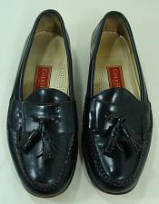 Buy Cole Haan Mens Black Leather Shoes Tassel Loafer Casual 9.5