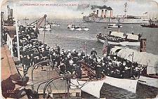 Buy US Navy Disembarking in Melbourne, Round the World Trip Return Vintage Postcard