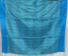 Buy Thai Tradition Blue Synthetic Silk Fabric For Top Skirt Wedding dress C9