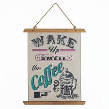 Buy *18390U - Wake Up Smell The Coffee Linen Wall Art