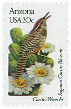 Buy 1982 20c State Birds & Flowers, Arizona, Saguaro Cactus Scott 1955 Mint F/VF NH