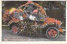 Buy Decorated Auto Car Portland Rose Festival, Oregon Vintage Unused Postcard