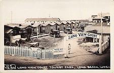 Buy Long View Court Tourist Park, Long Beach Wash.Real Photo Vintage Postcard