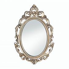 Buy *18072U - Gold Royal Crown Wood Frame Oval Wall Mirror