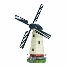 Buy *18311U - Solar Powered Light-up Spinning Windmill Lighthouse