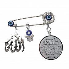 Buy muslim islam Hijab AYATUL KURSI Allah Turkish evil eye hamsa hand of fatima