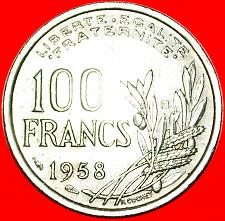 Buy ★TORCH: FRANCE★ 100 FRANCS 1958B! RARE! LOW START★NO RESERVE!